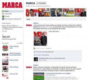 Marca en Facebook