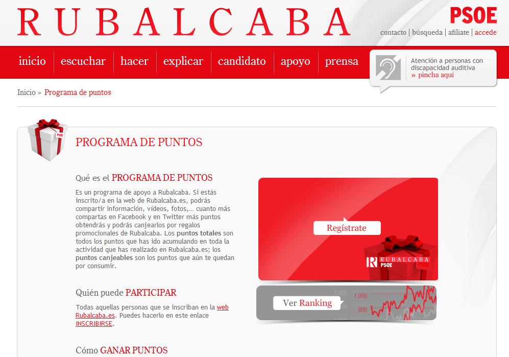 Programa puntos Rubalcaba