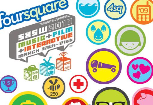 foursuarebadges 12 tendencias clave del Marketing Online en 2012