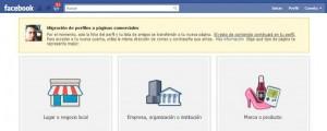 migracion perfiles pagina facebook