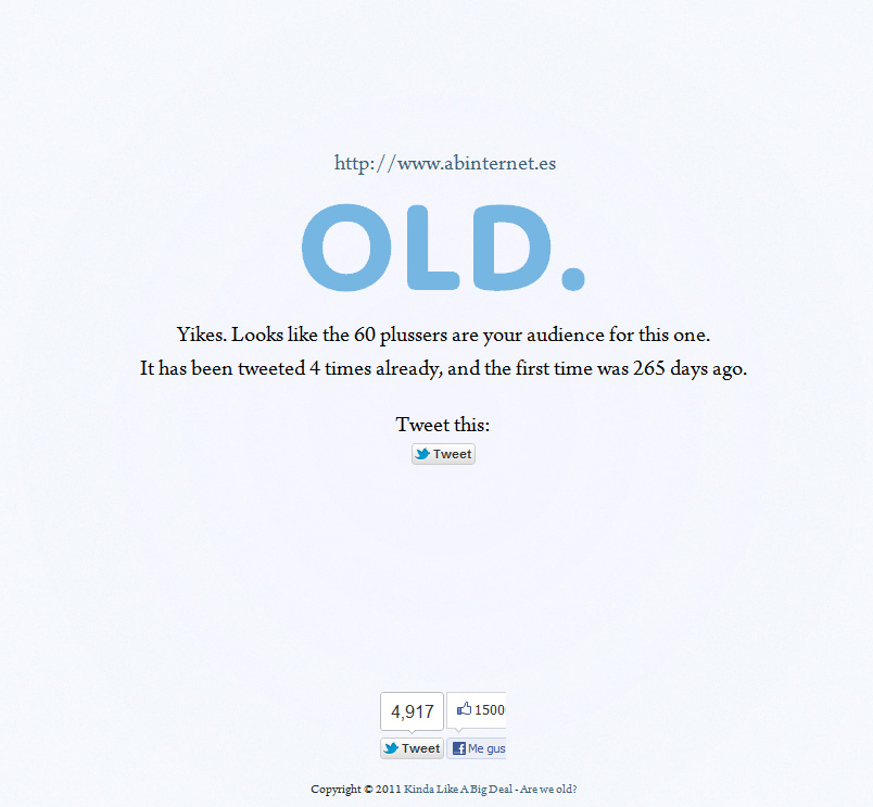 is it old?