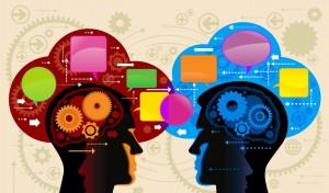 Gente intercambiando pensamientos