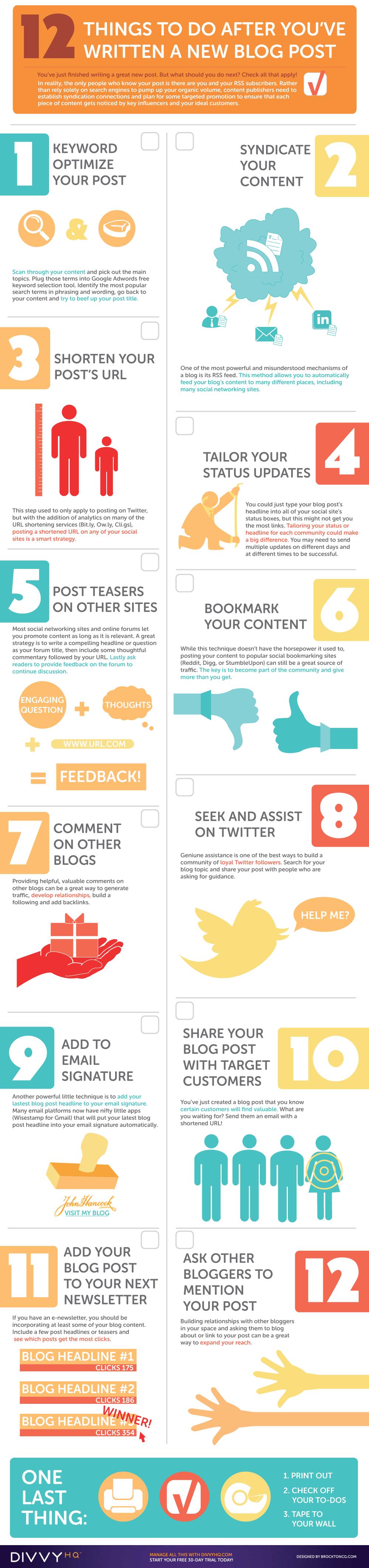 12 cosas hacer después escribir post