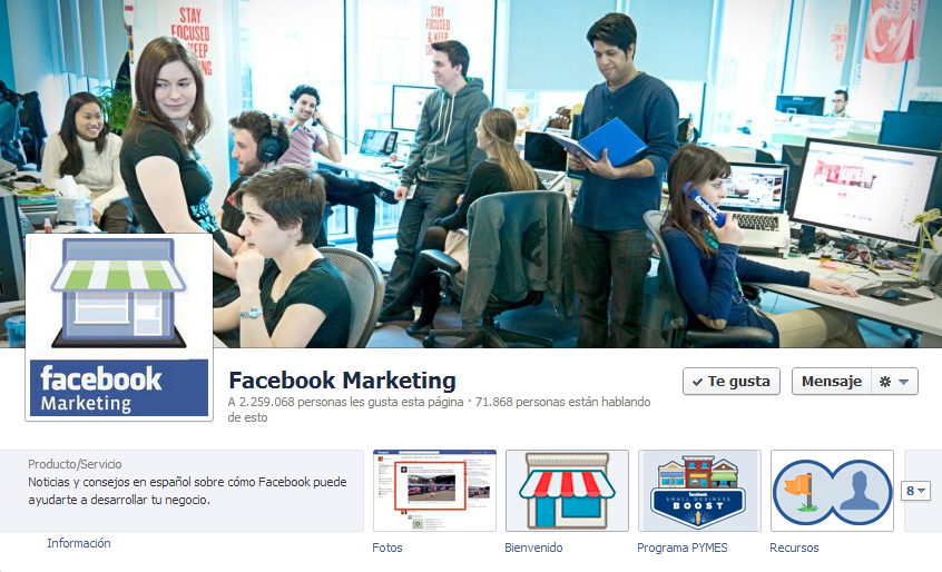 Pagina Facebook Marketing