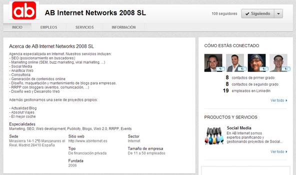 Ab Internet Pagina Linkedin
