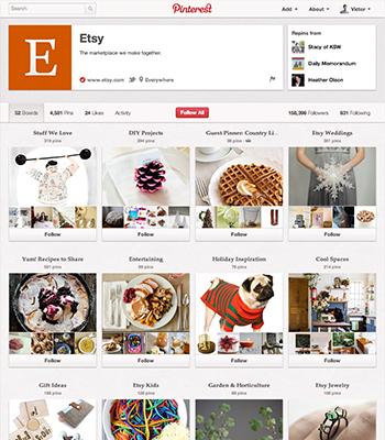 etsy en Pinterest