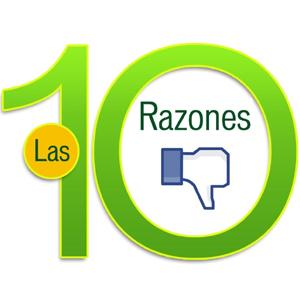 razones no funciona pagina Facebook